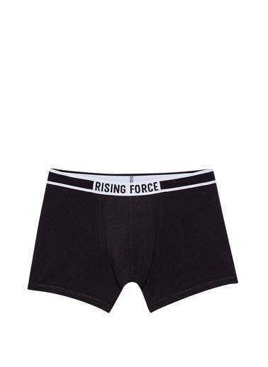 Mavi  Basic Boxer Siyah